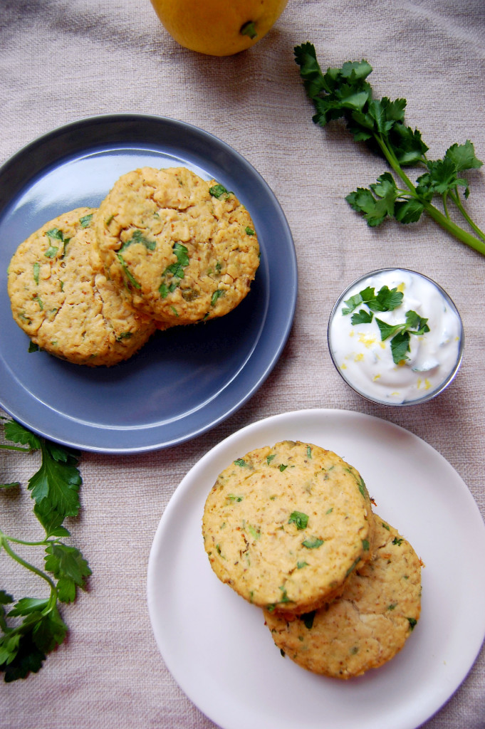 Simple Salmon Cakes with a Lemon Parsley Yogurt Sauce | Uproot from Oregon