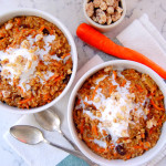 Spiced Carrot Oatmeal with Apples and Raisins