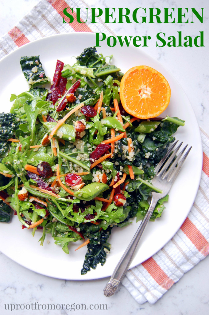 Supergreen Kale Power Salad | Uproot from Oregon