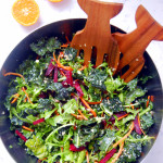 Supergreen Kale Salad with Orange Agave Vinaigrette | uprootkitchen.com