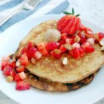 Almond Strawberry 3 Ingredient Pancakes (Gluten-Free)