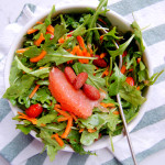 Arugula Salad with Pink Grapefruit and Almonds