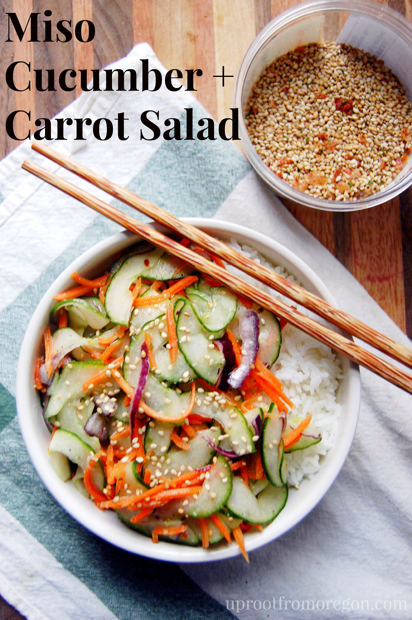 miso cucumber and carrot salad |