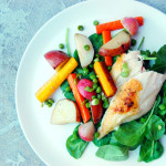 Simple Roasted Chicken with Spring Vegetables