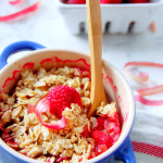 Raspberry Rhubarb Crumble for Two