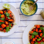 Huevos Rancheros with Sweet Potatoes and Black Beans