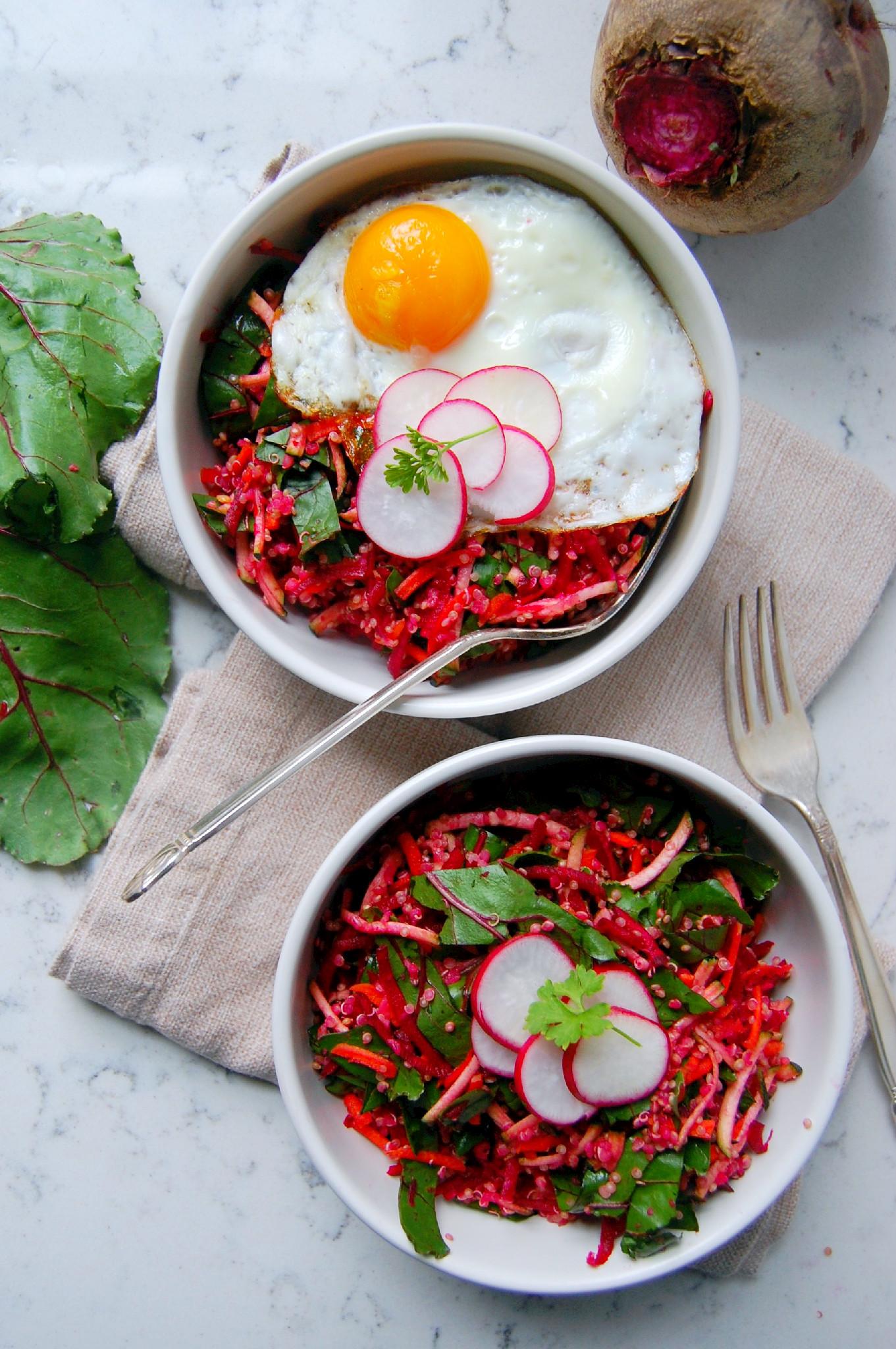 Bright Beet Quinoa Salad with Lemon and Ginger   uprootkitchen.com