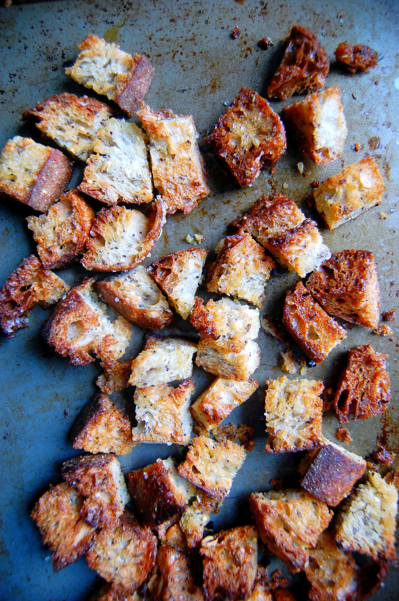 How To Make Incredible Homemade Croutons from Stale Bread! | UprootKitchen.com