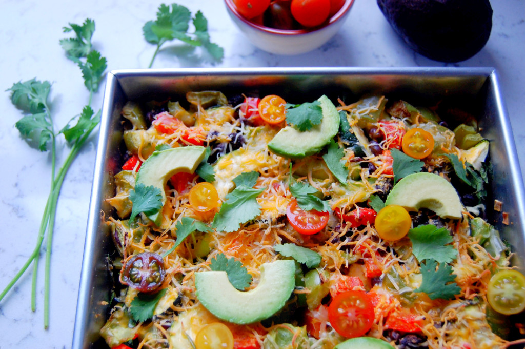Mexican Veggie Quinoa Bake | uprootfromoregon.com