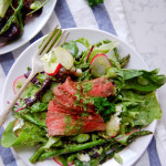 Steak and Asparagus Salad with a Greek Yogurt Dressing
