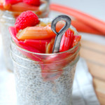 Vanilla Bean Chia Seed Pudding with Roasted Rhubarb