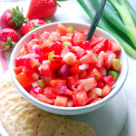 White Balsamic Strawberry Salsa