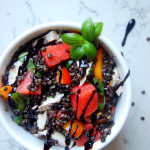 Beluga Lentil and Watermelon Caprese Salad