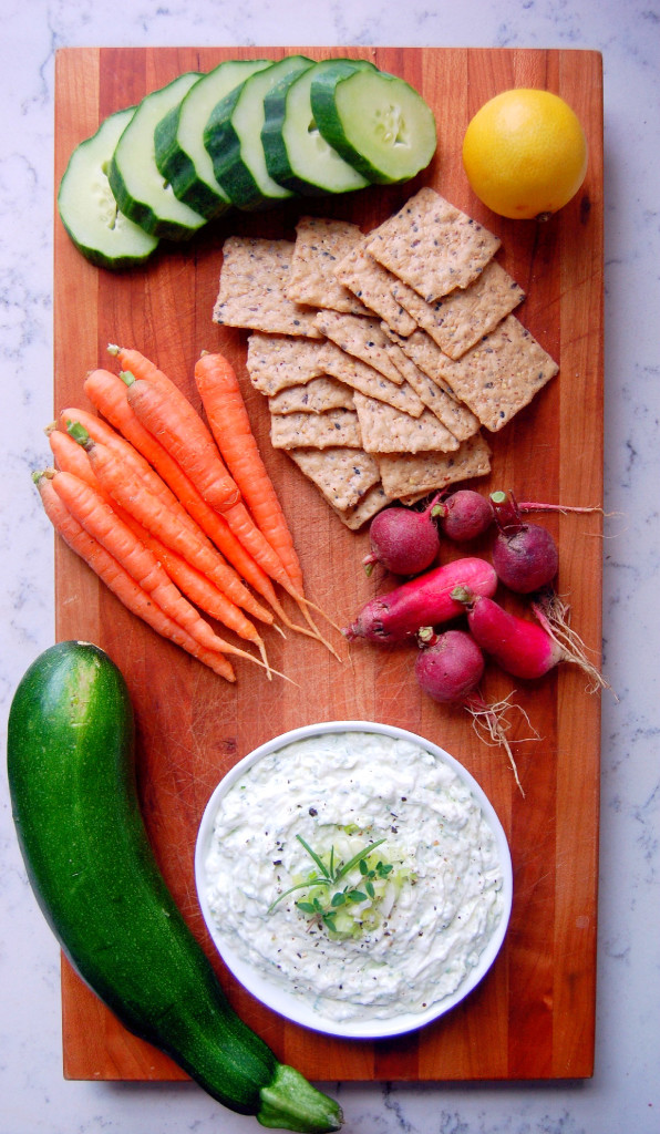 Greek Yogurt Dip for Veggies - a simple recipe using Greek yogurt to lighten up a traditional cream cheese veggie dip recipe, with added grated zucchini! | uprootfromoregon.com