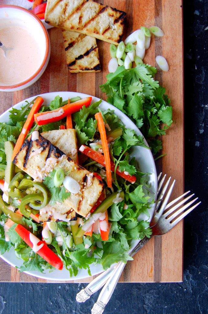 grilled tofu and salad incredible it would be delicious with grilled ...