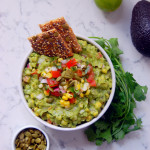 Chunky Sweet Corn Guacamole with Pepitas