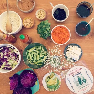 Vietnamese Rice Paper Roll Assembly | uprootfromoregon.com