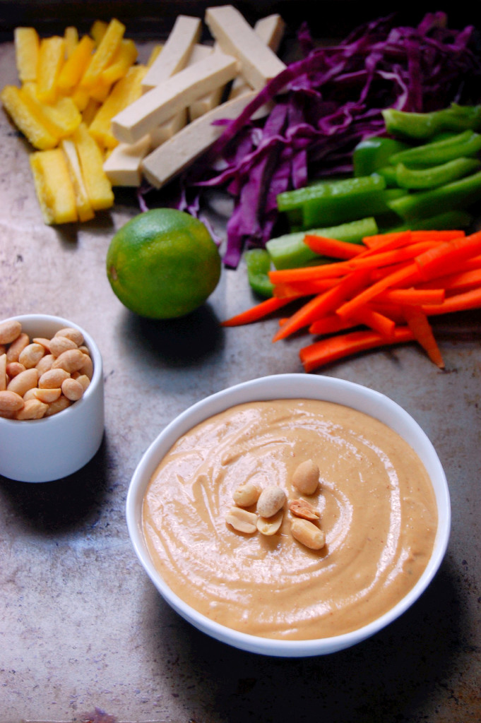 A perfect sauce to keep on hand for salads, noodles, and meats, this Peanut Sauce recipe couldn't be easier for whipping up! | #vegan #glutenfree uprootfromoregon.com