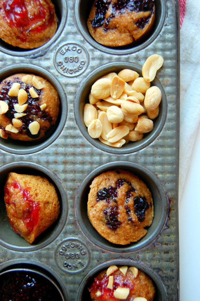 Mini Peanut Butter and Jelly Muffins - perfect for a snack, breakfast or lunch treat! | uprootfromoregon.com
