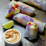 Tofu Summer Rolls with Quinoa and Peanut Sauce