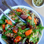 Cinnamon Roasted Carrot and Farro Salad