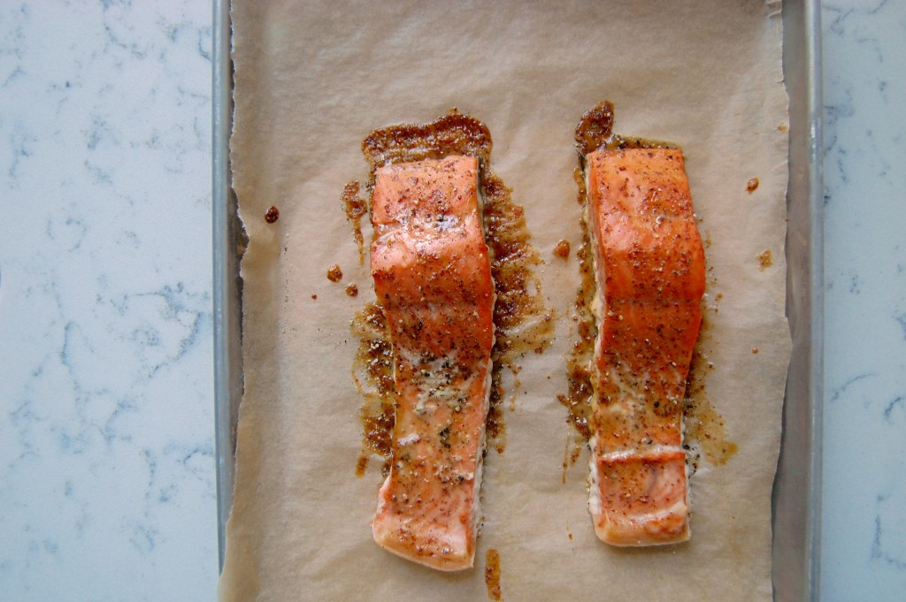 Glazed Dijon Salmon - a simple 20 minute dinner recipe idea! | uprootfromoregon.com