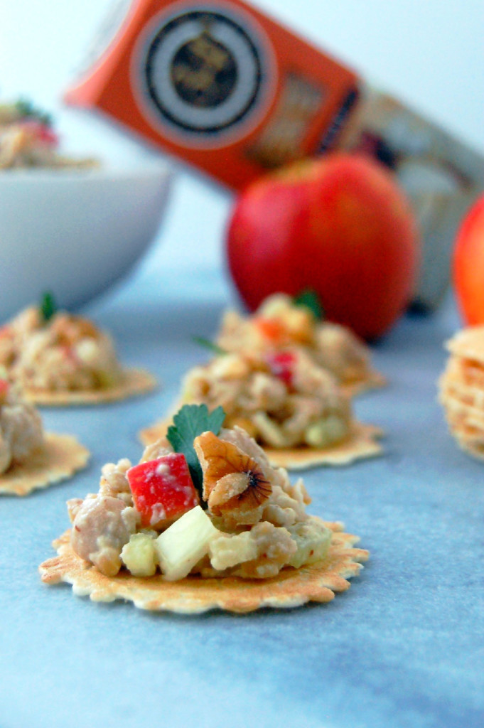 Chickpea Salad with Apples, Celery and Walnuts | uprootfromoregon.com