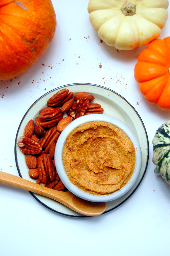 Pumpkin Pecan Almond Butter, a delightful nut butter spread perfect for fall breakfasts | uprootfromoregon.com