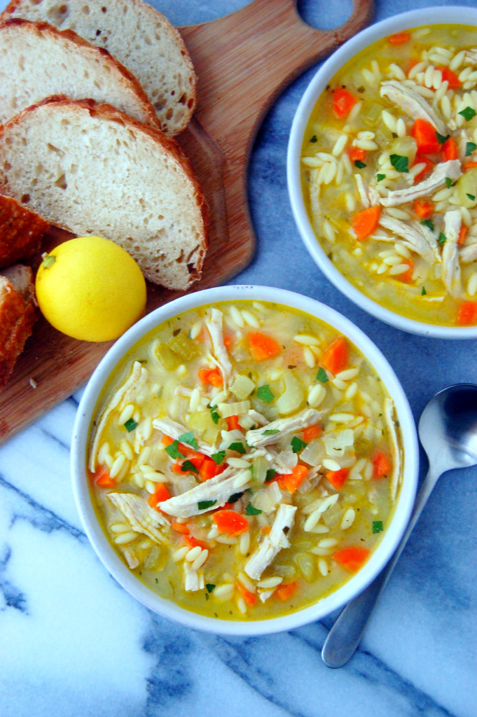 This Turkey Orzo Soup has a rich, flavorful broth, lots of vegetables, orzo pasta, and turkey breast chunks | uprootfromoregon.com