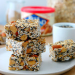 Savory Toasted Oat and Sesame Granola Bars