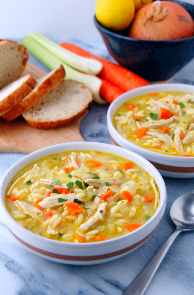 Turkey and Orzo Soup, the perfect winter warmer filled with vegetables and a zesty, flavorful broth | uprootfromoregon.com