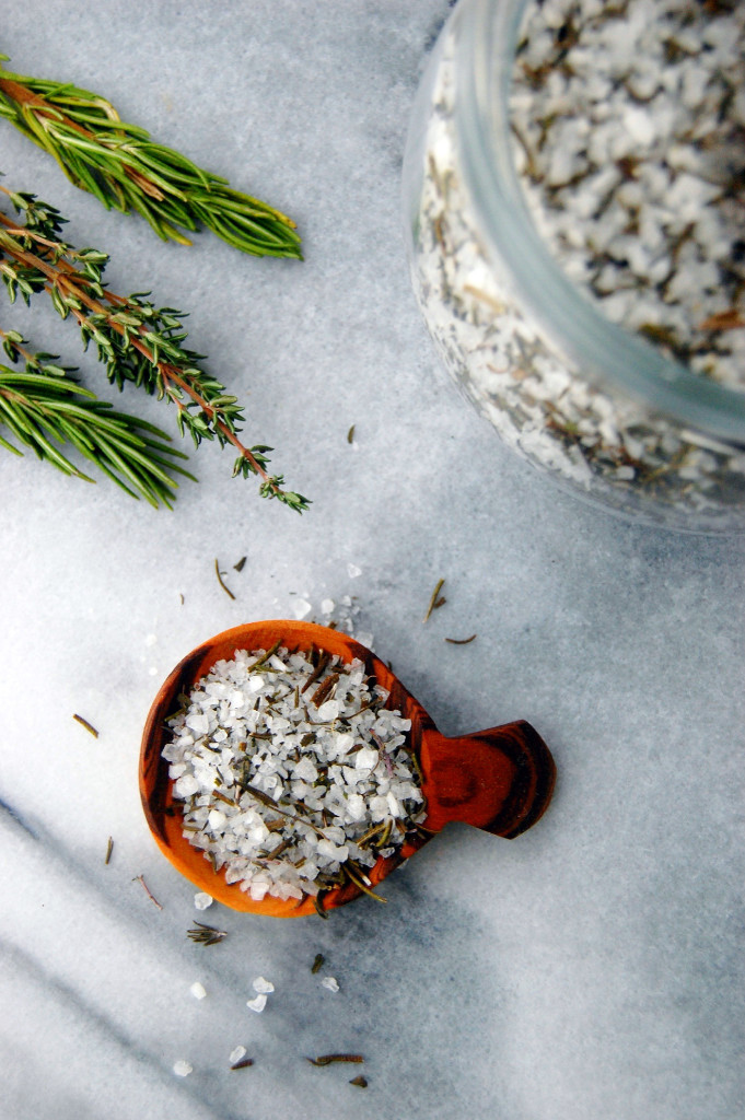 A gourmet edible DIY, this Garden Herb Salt Mix is simple and fun to create from bountiful fresh herbs.