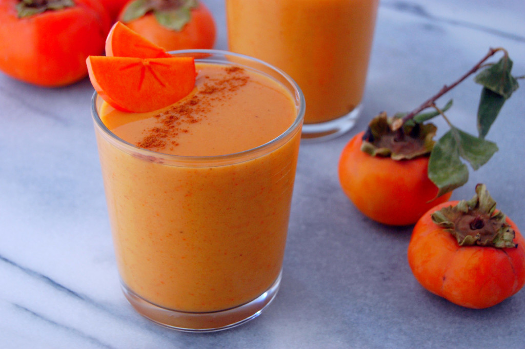 A simple Persimmon Smoothie recipe, perfect for using this delicious winter fruit! | uprootfromoregon.com