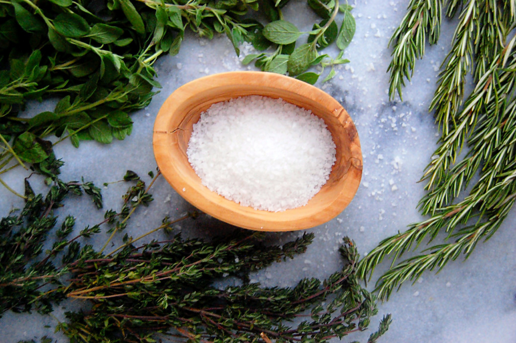 A simple edible DIY for a Garden Herb Salt Mix.