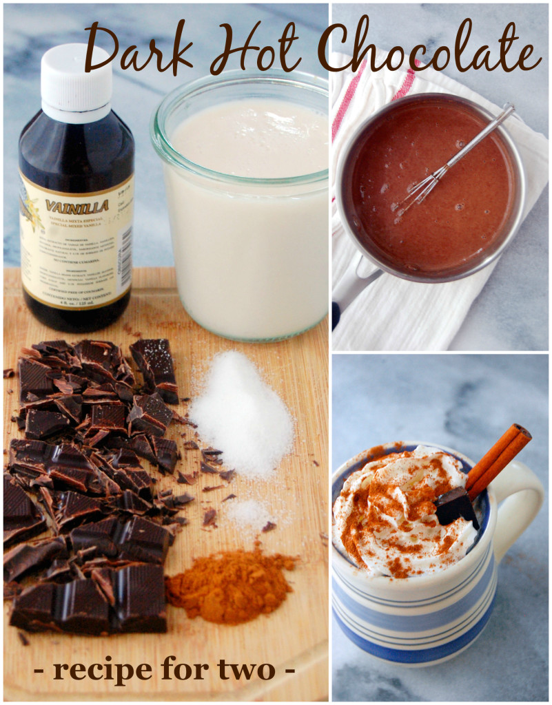 A simple recipe for Decadent Dark Hot Chocolate for Two