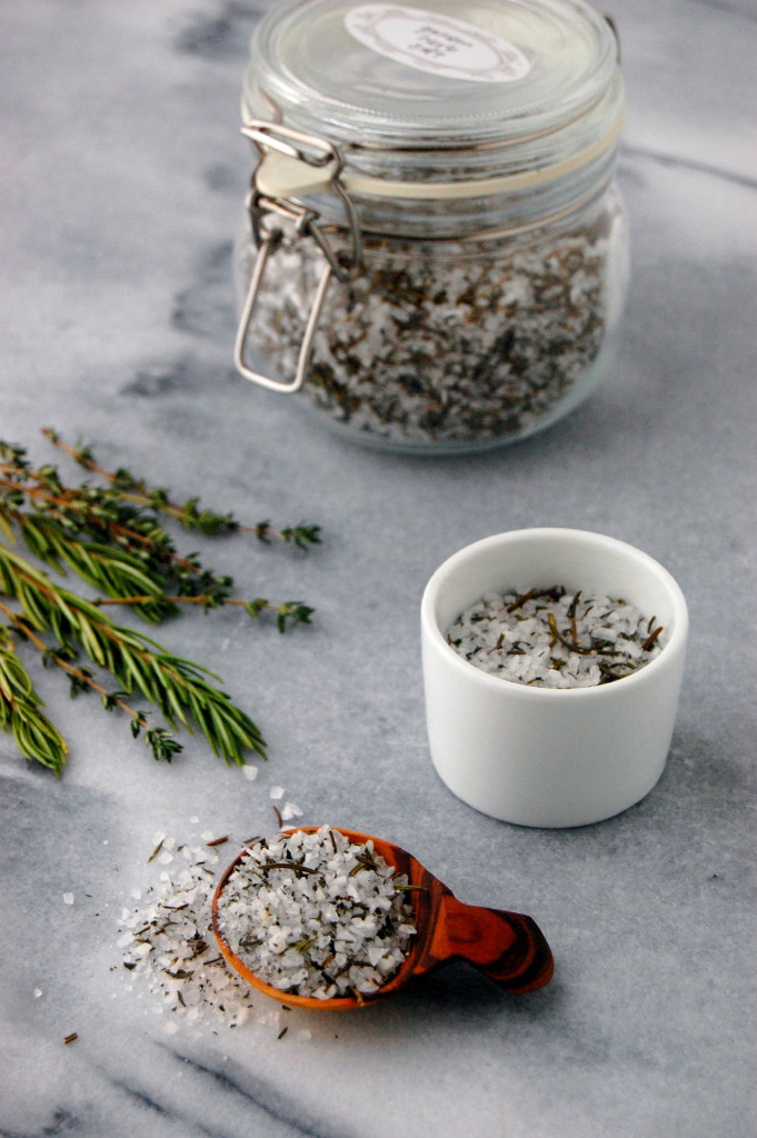 Edible DIY - Garden Herb Salt! Perfect for preserving herbs and making a gourmet gift | uprootfromoregon.com