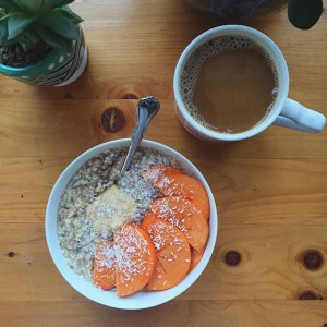 Hot Oat breakfast