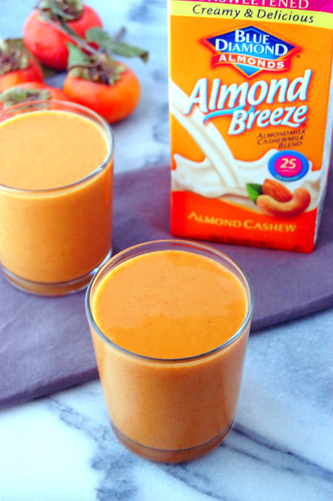 Persimmon Smoothie recipe, perfect for an afternoon snack or breakfast #ad | uprootfromoregon.com