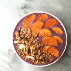 Purple Smoothie with Love Grown Granola