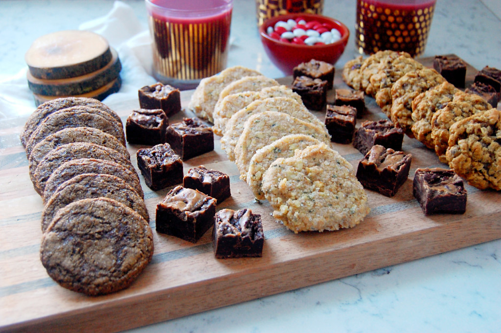 Walnut Basil Shortbread Cookies