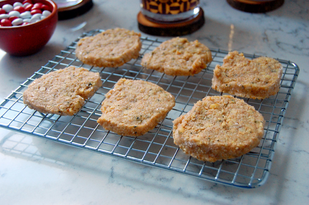 Walnut Basil Shortbread