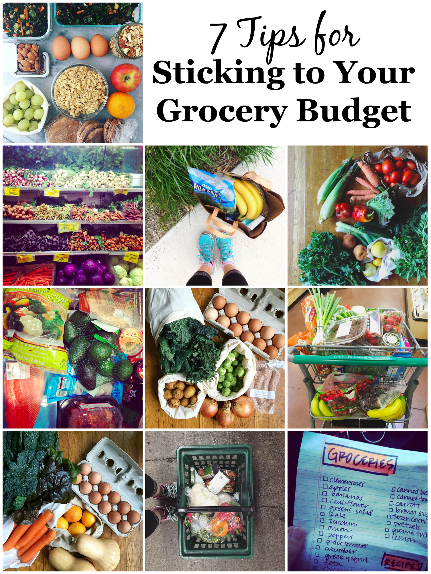 7 Easy Tips for Sticking To Your Grocery Budget | UprootKitchen.com