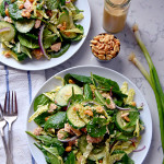 Supergreen Tuna Salad with Sesame Peanut Dressing