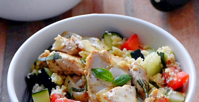 Honey Mustard Chicken with Couscous