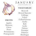 January Seasonal Produce List | UprootKitchen.com