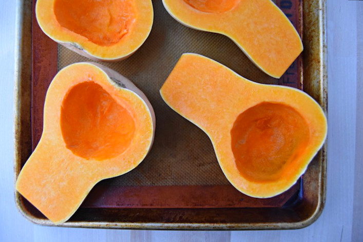 A simple stuffed butternut squash recipe | uprootkitchen.com