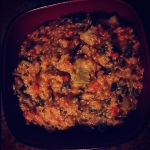 Alyssa on IG - Creamy Tomato and Veggie Quinoa Risotto | uprootkitchen.com