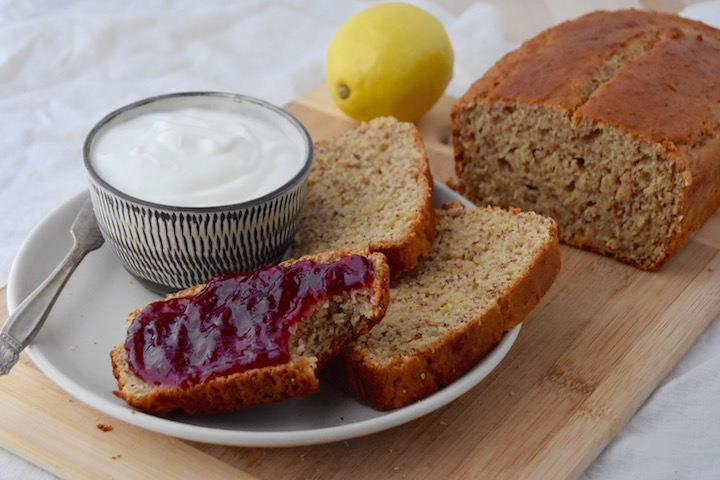 You can eat this Whole Wheat Yogurt Quick Bread plain, or toast it and top it with your favorite jam or nut butter. | uprootkitchen.com