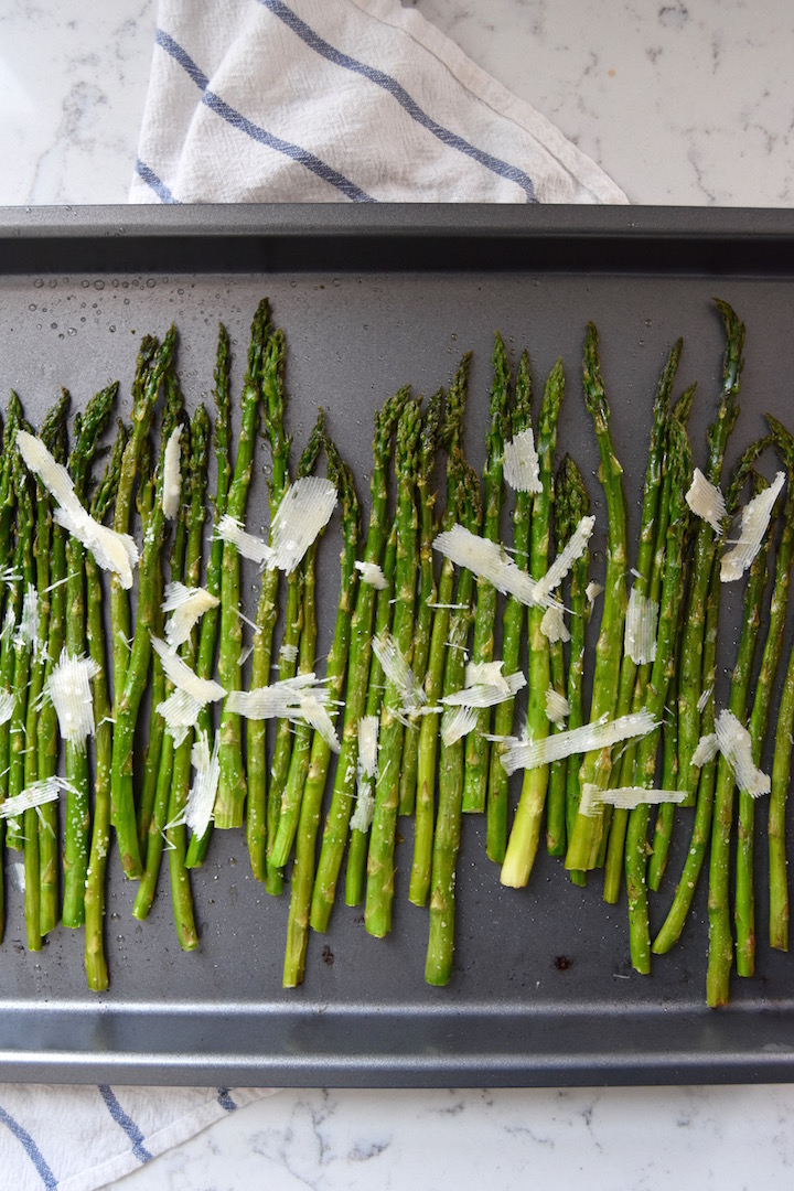 Roasting fresh spring asparagus with parmesan | uprootkitchen.com