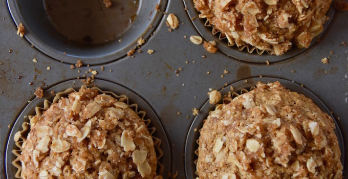 Wholesome Oatmeal Coffee Cake Muffins